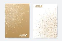 Modern vectormalplaatje voor brochure, Pamflet, vlieger, dekking, tijdschrift of jaarverslag A4 grootte Zaken, wetenschap Royalty-vrije Stock Afbeelding