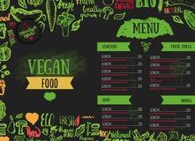 Modern  vegetarian food menu design. Royalty Free Stock Photo