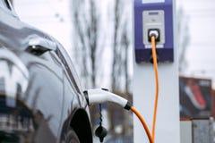 Modern vehicle eco car transportation power charge. Eco car transportation energy charge no people Stock Photography