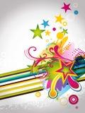 modern vektor för abstrakt illustration för element blom- Royaltyfria Foton