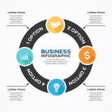 Modern vektor som är infographic för affärsprojekt Royaltyfria Bilder