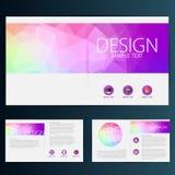 Modern vektorabstrakt begreppbroschyr, rapport eller reklambladdesignmall Royaltyfria Foton