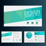 Modern vektorabstrakt begreppbroschyr, rapport eller reklambladdesignmall Arkivfoto