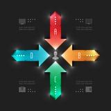 Modern vektorInfographics mall. Workflow Arro vektor illustrationer