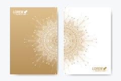 Modern vektormall för broschyr, broschyr, reklamblad, räkning, tidskrift eller årsrapport Arkivbild
