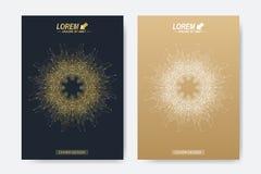 Modern vektormall för broschyr, broschyr, reklamblad, räkning, tidskrift eller årsrapport Affär vetenskap, medicin och vektor illustrationer