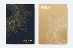 Modern vektormall för broschyr, broschyr, reklamblad, räkning, tidskrift eller årsrapport Format A4 Affär vetenskap Arkivfoto