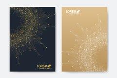 Modern vektormall för broschyr, broschyr, reklamblad, räkning, tidskrift eller årsrapport Format A4 Affär vetenskap Arkivfoton