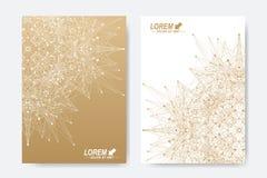 Modern vektormall för broschyr, broschyr, reklamblad, räkning, tidskrift eller årsrapport Format A4 Affär vetenskap Royaltyfria Bilder
