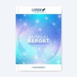 Modern vektormall för broschyr, broschyr, reklamblad, räkning, tidskrift eller årsrapport Molekylär orientering i formatet A4 stock illustrationer