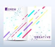 Modern vektormall för broschyr, broschyrreklamblad, annons, räkning, katalog, tidskrift eller årsrapport Affär vetenskap vektor illustrationer