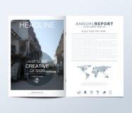 Modern vektormall för broschyr, broschyr, reklamblad, annons, räkning, katalog, tidskrift eller årsrapport Kortyttersida stock illustrationer