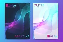 Modern vektormall för broschyr, broschyr, reklamblad, räkning, katalog, tidskrift, baner eller årsrapport Format A4 stock illustrationer
