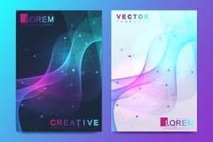 Modern vektormall för broschyr, broschyr, reklamblad, räkning, katalog, tidskrift, baner eller årsrapport Format A4 royaltyfri illustrationer