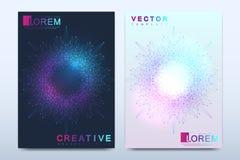 Modern vektormall för broschyr, broschyr, reklamblad, räkning, katalog, tidskrift eller årsrapport i formatet A4 Affär stock illustrationer