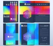 Modern vektormall för broschyren, broschyr, reklamblad, räkning, katalog i formatet A4 Abstrakt vätska 3d formar den moderiktiga  royaltyfri illustrationer