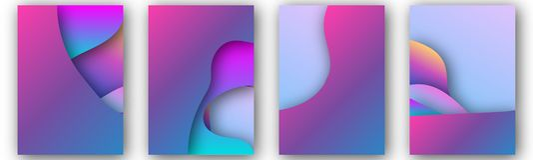 Modern vektormall för broschyren, broschyr, reklamblad, räkning, katalog i formatet A4 Abstrakt vätska 3d formar moderiktig flyta vektor illustrationer