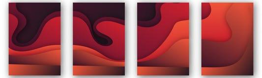 Modern vektormall för broschyren, broschyr, reklamblad, räkning, katalog i formatet A4 Abstrakt vätska 3d formar moderiktig flyta royaltyfri illustrationer