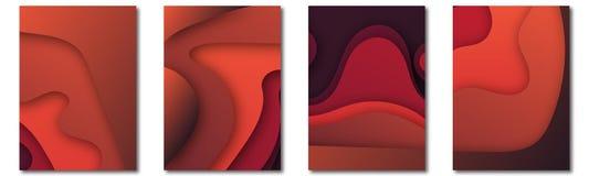 Modern vektormall för broschyren, broschyr, reklamblad, räkning, katalog i formatet A4 Abstrakt vätska 3d formar moderiktig flyta stock illustrationer