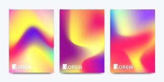 Modern vektormall för katalog för baner för räkning för broschyrbroschyrreklamblad i formatet A4 Abstrakt vätska 3d formar vektor royaltyfri illustrationer