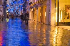 Modern venice at night Royalty Free Stock Photos
