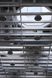Modern ventilation system in a hall Royalty Free Stock Photo