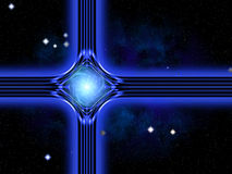 Modern version of the traditional christian christmas star. Build by lines of forces in the universe Stock Photo
