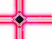 Modern version of the traditional christian christmas star. Build by lines of forces in the universe Royalty Free Stock Image