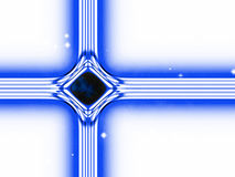 Modern version of the traditional christian christmas star. Build by lines of forces in the universe Royalty Free Stock Photography