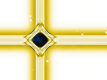 Modern version of the traditional christian christmas star. Build by lines of forces in the universe Stock Images