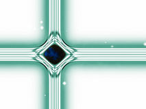 Modern version of the traditional christian christmas star. Build by lines of forces in the universe Royalty Free Stock Photos