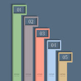 Modern vertical colored Design template Royalty Free Stock Photography