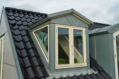 Modern vertical roof windows Stock Photos