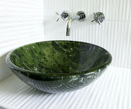 Modern vessel sink and faucet Royalty Free Stock Photo