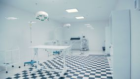Modern Veterinary Clinic. Tiled black and white floor. stock footage