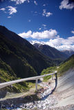 Modern viaduct in mountains Stock Photography