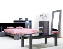 Modern vibrant bedroom interior design Stock Photo