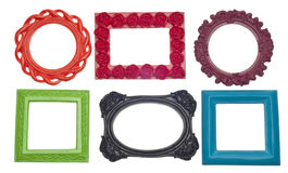 Modern Vibrant Colored Empty Frames Stock Photography