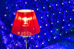 Modern vibrant red table lamp Stock Image