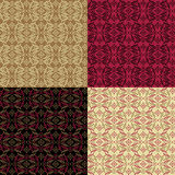 Modern Victorian Pattern. A modern seamless pattern with a vintage appearance in four colorways. Tiles repeat 6 Royalty Free Stock Photography