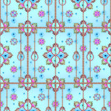 Modern Victorian Style Seamless Pattern Stock Images