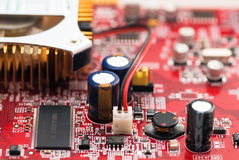 Modern videocard close-up Stock Photo