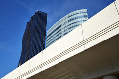Modern Vienna city architecture in the UNO city complex. Royalty Free Stock Image