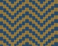 In modern vierkant gestreept patroon, illustratie Naadloos patroon met vierkant elementen geel blauw Illusiepatroon Royalty-vrije Stock Foto