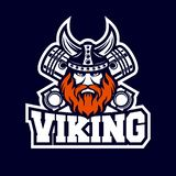 Modern Viking en diesel embleem stock illustratie