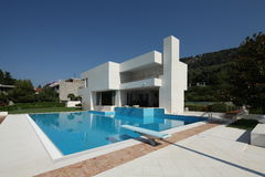 Modern Vila in Split. Croatia royalty free stock photo