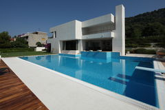 Modern Vila in Split. Croatia royalty free stock photography