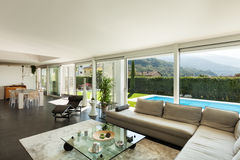 Modern villa, beautiful interiors Royalty Free Stock Photo