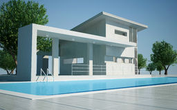 Modern villa day view Stock Image