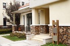 Modern villa doorway. royalty free stock photos